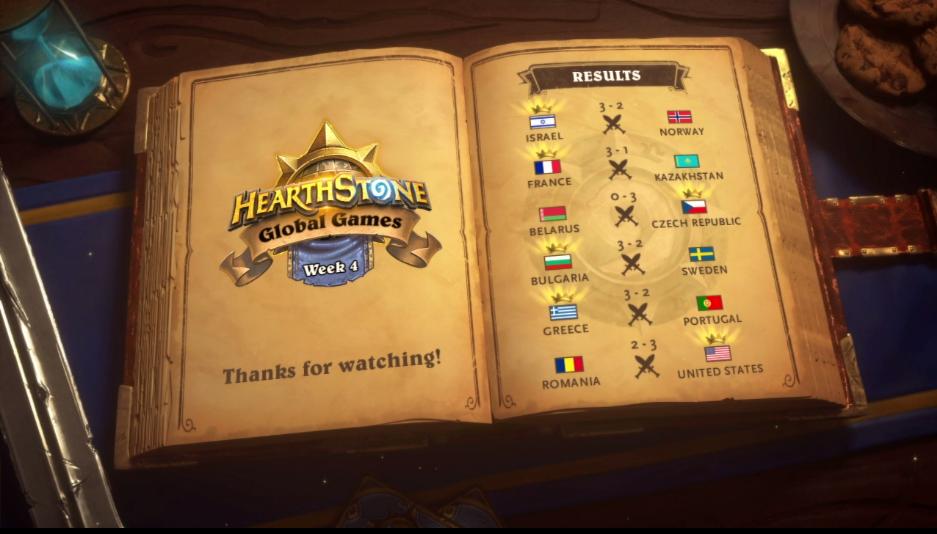 quarta settimana degli Hearthstone Global Games