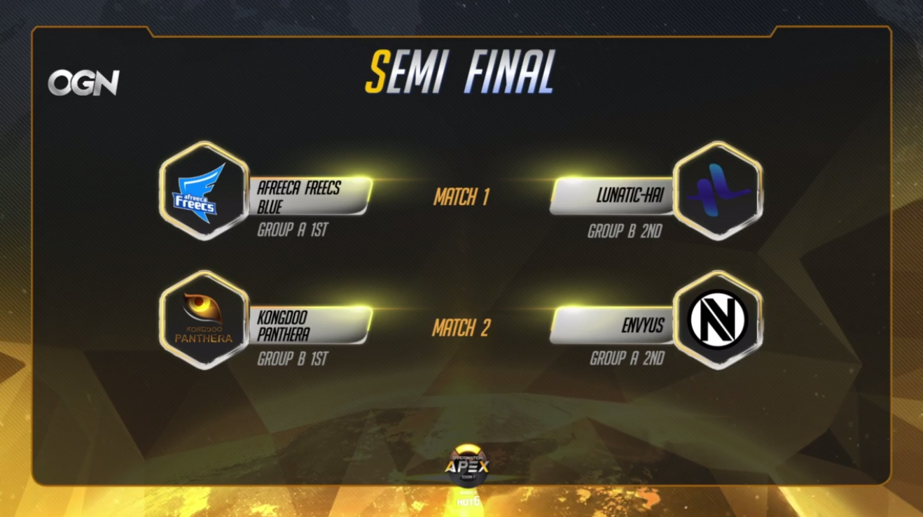 Quarti di finale OGN APEX season 3 - team in semifinale