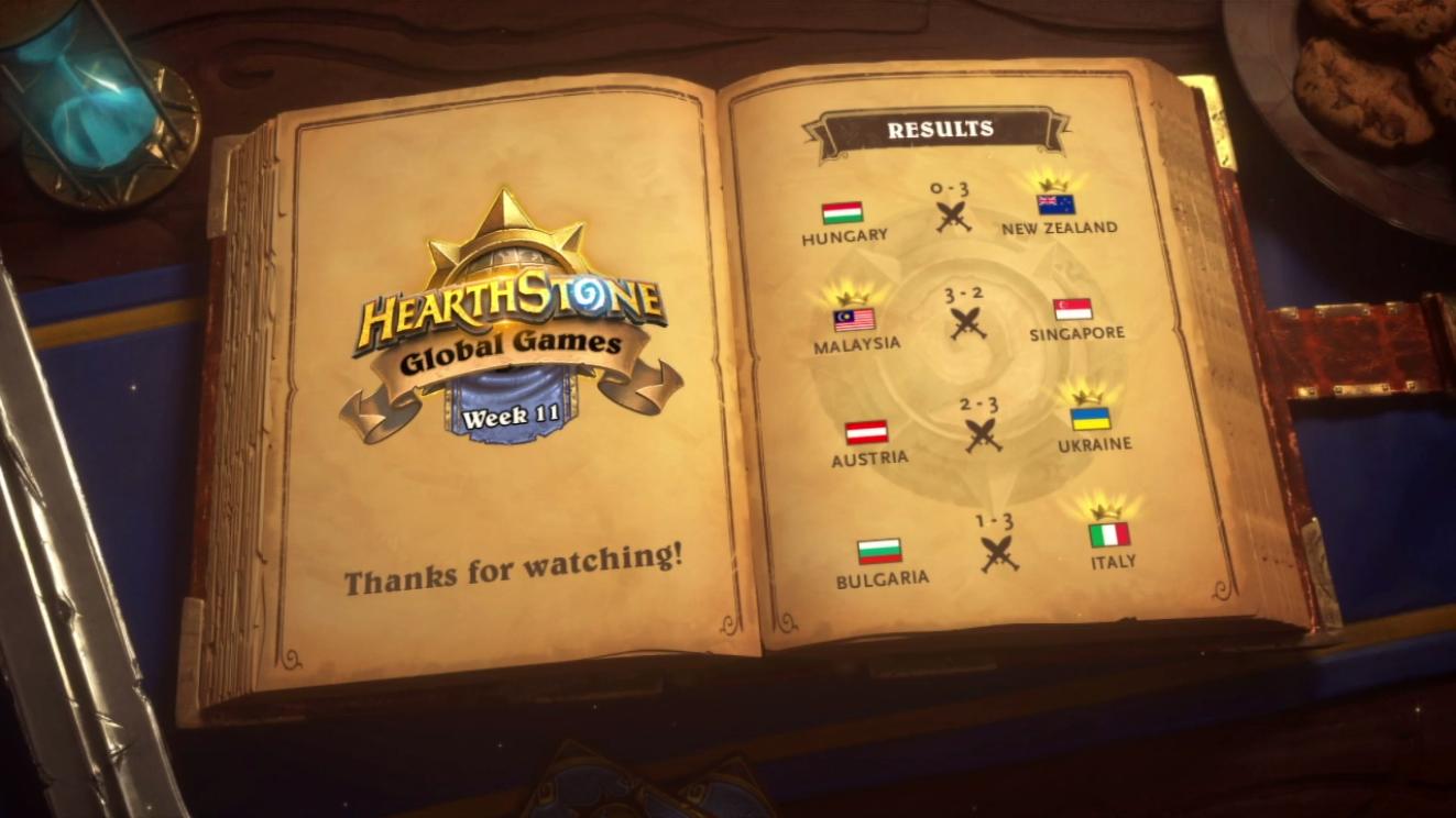 Undicesima settimana degli Hearthstone Global Games g1