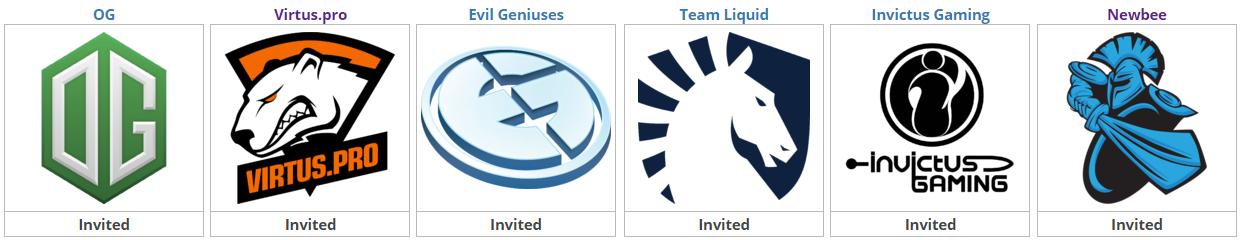 The International 2017 Main Qualifiers squadre invitate