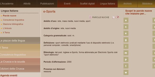 finta Crusca e-Sports
